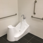 WuduMate Classic with Disabled Bars Installed in Ablution Area